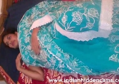 Mallu Bhabhi Naked Stripping Blue Sari Playing With Will not hear be beneficial to Indian Tits