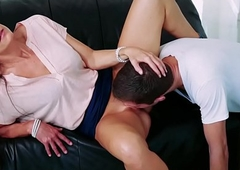 India Summers pussy feeds Dylan Cat's-paw as she spread her legs!