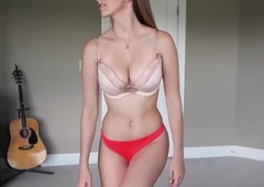 my girlfriend tries undergarments 02