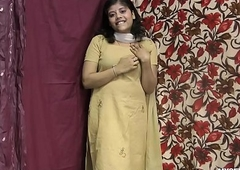 Rupali Indian Unfocused In Shalwar Supply Stripping Show